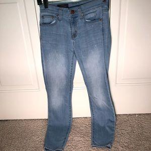 J crew toothpick skinny jeans. 26. Light wash